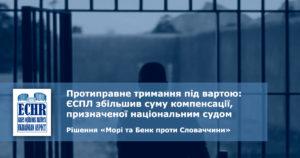 рішення у справі «Mорі та Бенк проти Словаччини»