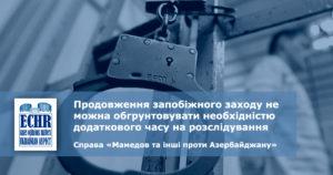 рішення ЄСПЛ у справі «Мамедов та інші проти Азербайджану» (заява №35432/07)