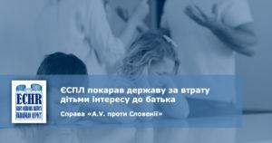 рішення ЄСПЛ у справі «A.V. проти Словенії» (заява № 878/13)
