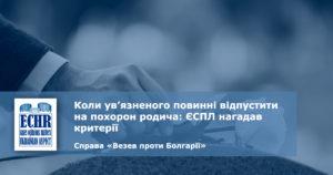 рішення ЄСПЛ у справі «Везев проти Болгарії» (заява № 54558/15)