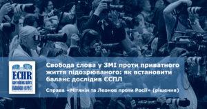 рішення ЄСПЛ у справі «Мітянін та Леоновпроти Росії»(заяви № 11436/06 та 22912/06)