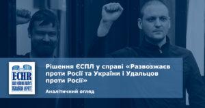 Рішення ЄСПЛ у справі «Развозжаєв проти Росії та України і Удальцов проти Росії»