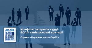 рішення ЄСПЛ у справі «Паунович проти Сербії»