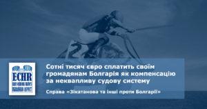 рішення ЄСПЛ у справі «Зікатанова та інші проти Болгарії»