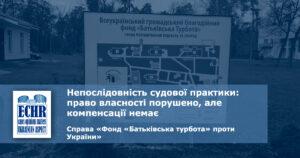 рішення ЄСПЛ у справі «Фонд «Батьківська турбота» проти України»