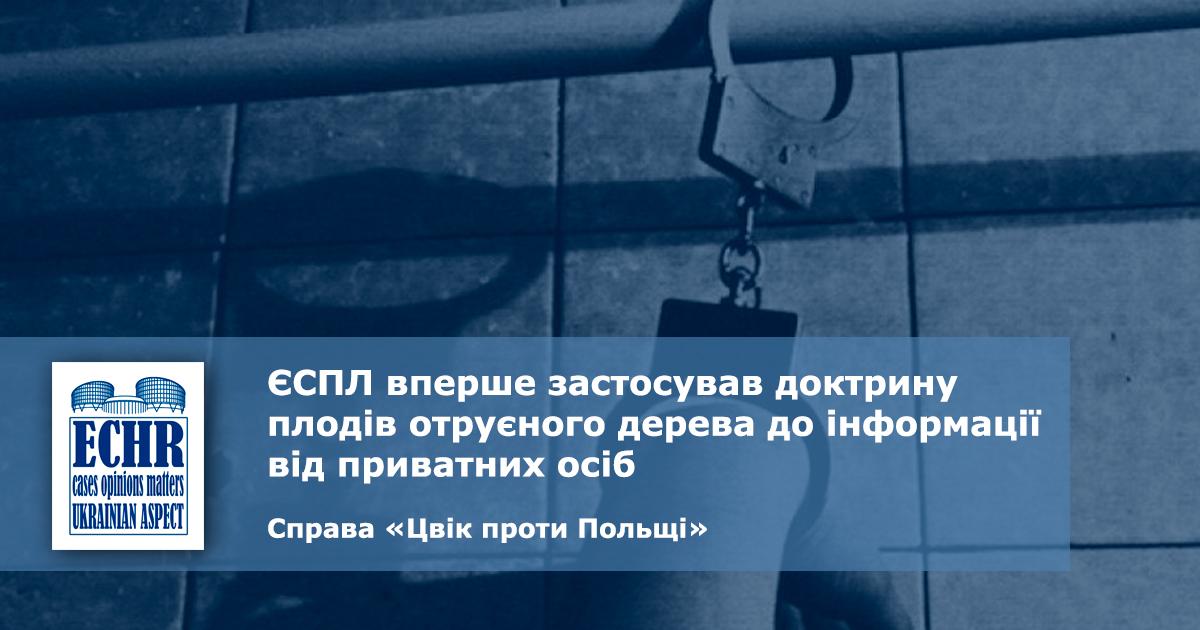 рішення ЄСПЛ у справі «Цвік проти Польщі»