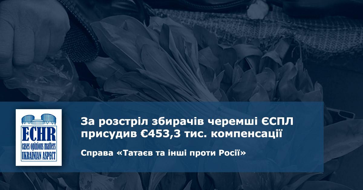 рішення ЄСПЛ у справі «Татаєв та інші проти Росії»